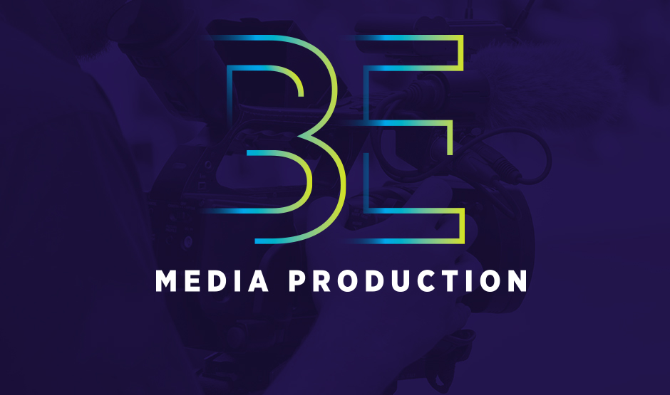 BE Media production logo design