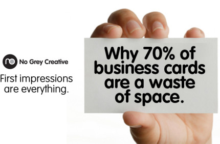 Why 70% of business cards are a waste of space