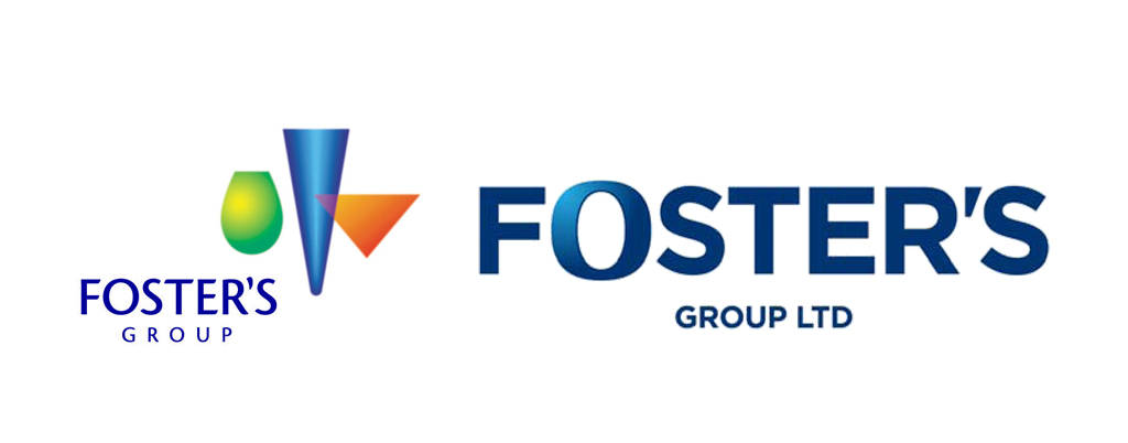 Foster's Group logo old vs new