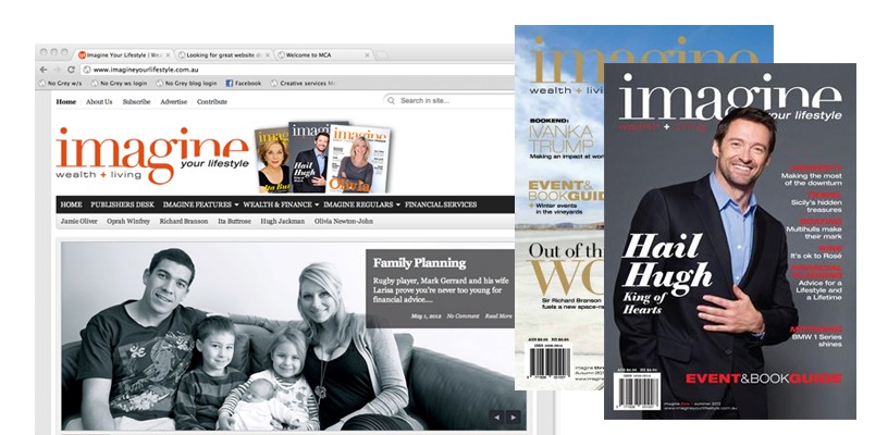 Imagine your lifestyle magazine– notice the strong visual identity?