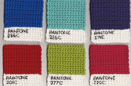 Pantone Knitted Swatches
