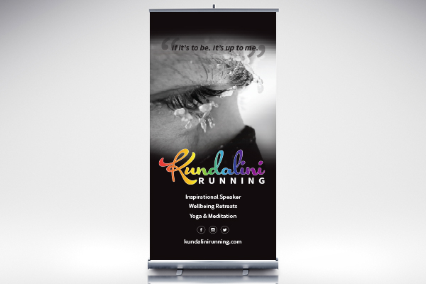 Kundalini running roll up banner