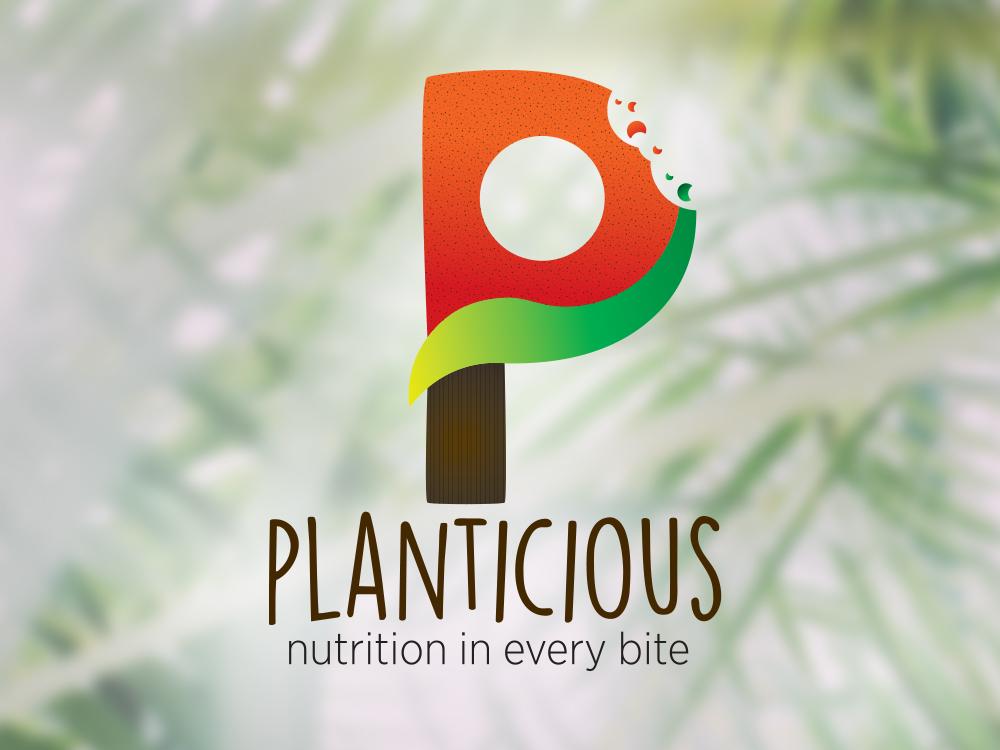 planticious logo design