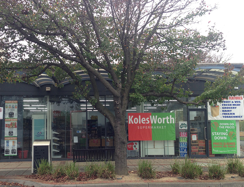 KolesWorth supermarket on Poath Road, Murrumbeena.