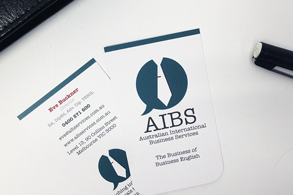Australian international business services no grey creative aibs business cards reheart Images