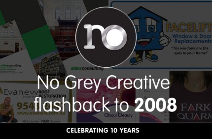 Looking back at 2008 – No Grey Creative turns 10