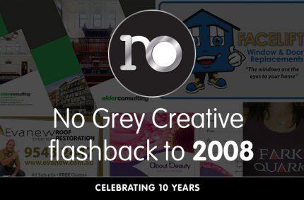 Looking back at 2008 – No Grey Creative turns 10