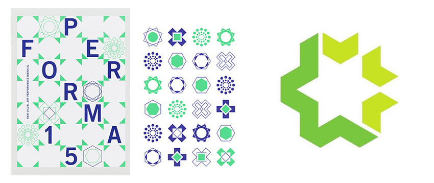 geometric logo green