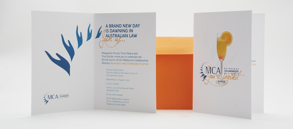 melbourne lawyer invitation design