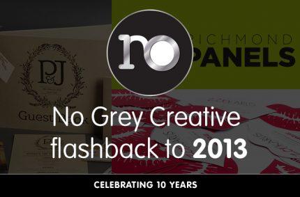 Looking back at 2013 – No Grey Creative turns 10