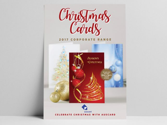 Auscard Christmas Card Catalogue design 2017