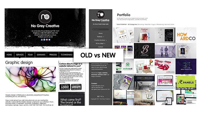 old vs new website