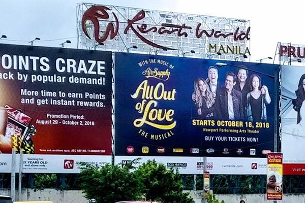 resorts world manilla billboard