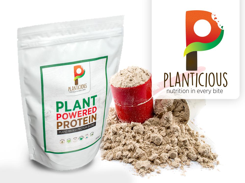 Plant based food brand packaging design